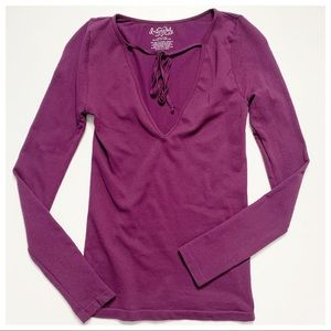 💋 Intimately Free People Ribbed Purple Top XS/S